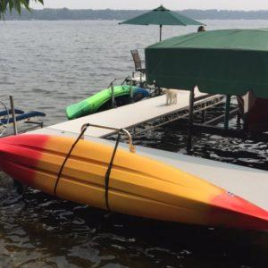 Waterside Kayak Dock Storage Rack