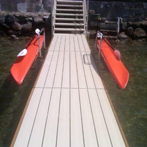 Kayak Dock Side Storage Rack