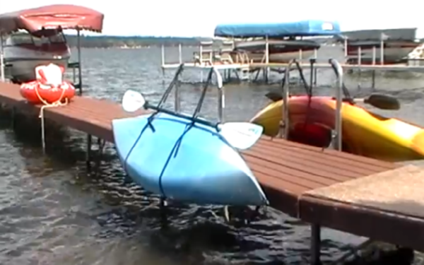 Waterside Kayak Dock Storage