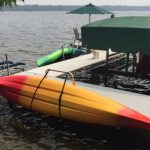 Kayak rack and lift - water entry