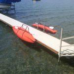 Kayak dock lift and rack
