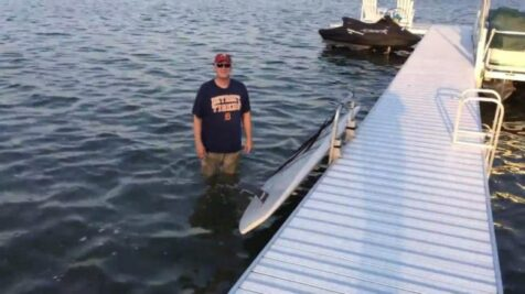 SUP lift for dock