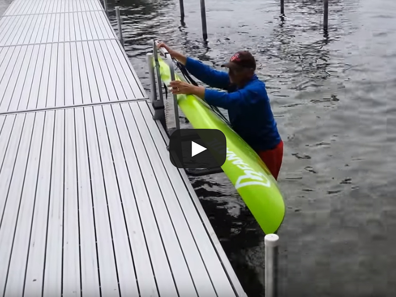 Paddleboard Rack for Dock – Water Entry