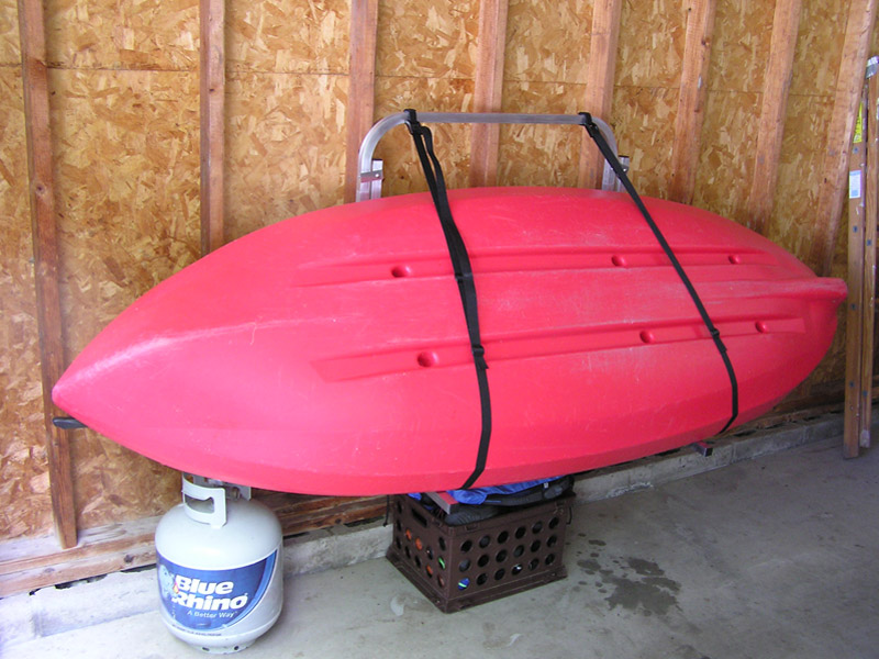 Kayak rack for garage